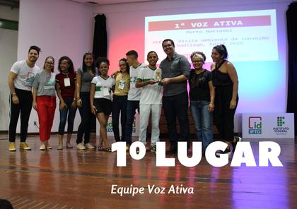1º lugar - Equipe Voz Ativa