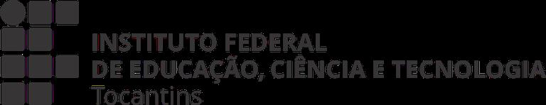 Logo horizontal preto c/ o nome completo do IFTO