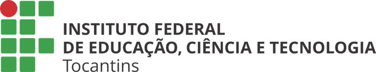Logo horizontal colorido c/ o nome completo do IFTO