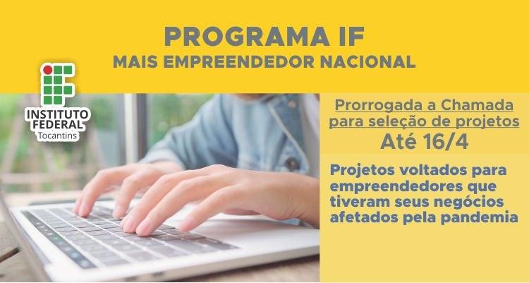 Retificado edital para submissão de projetos ao IF Mais Empreendedor Nacional