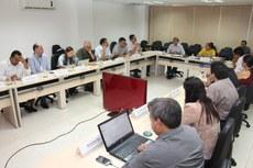 Dirigentes durante 5ª reunião ordinária do Codir em 2016.