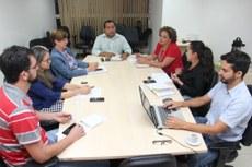 Equipe realiza reunião de planejamento