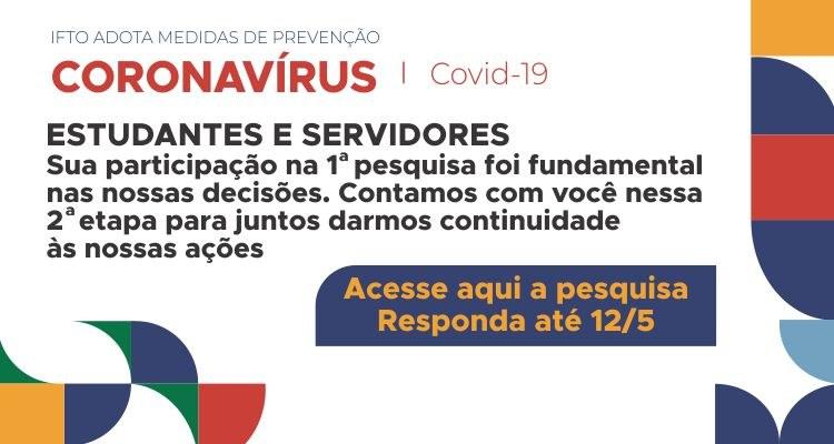 IFTO divulga nova pesquisa sobre ações de combate à pandemia da Covid-19
