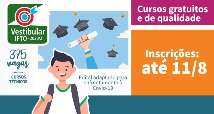 IFTO inscreve para cursos técnicos gratuitos até a próxima terça-feira, 11