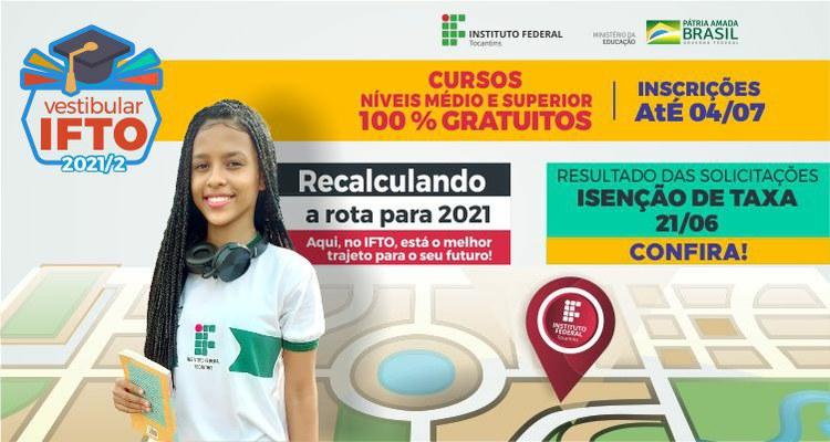 IFTO lança Vestibular Unificado 2021/2