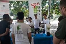 Apresentação do projeto sobre fitorremediação na Semana da Água, em Palmas