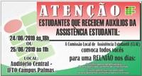 Programa de Assistência Estudantil convoca estudantes para reunião