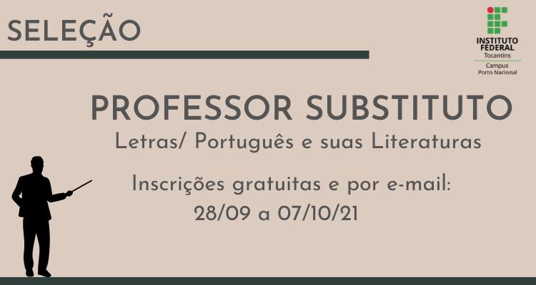 Oportunidade! Inscrições abertas para processo seletivo de professor substituto